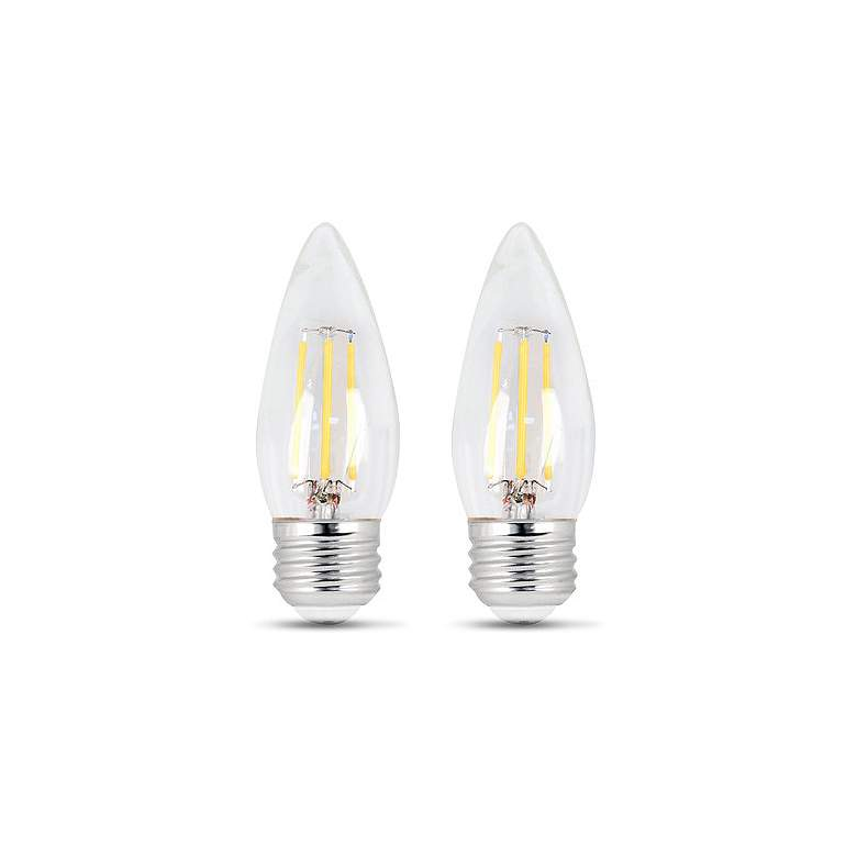 60W Equivalent Clear 6W LED Dimmable Torpedo Bulb