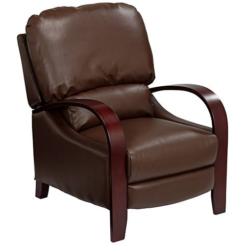 Cooper Parma Moose Brown Faux Leather 3-Way Recliner Chair