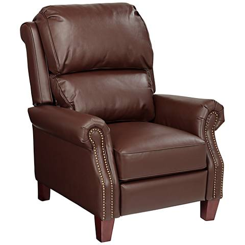 Parma Moose Brown Faux Leather 3-Way Recliner Chair