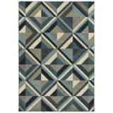 "Linden 7902A 6'7""x9'6"" Blue and Gray Area Rug"
