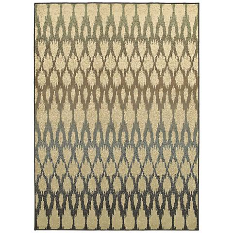 Brentwood 001H9 Multi-Color Ivory Area Rug