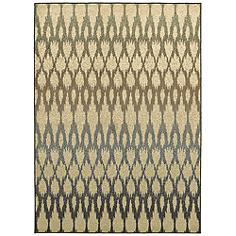 """Brentwood 001H9 5'3""""x7'3"""" Multi-Color Ivory Area Rug"""