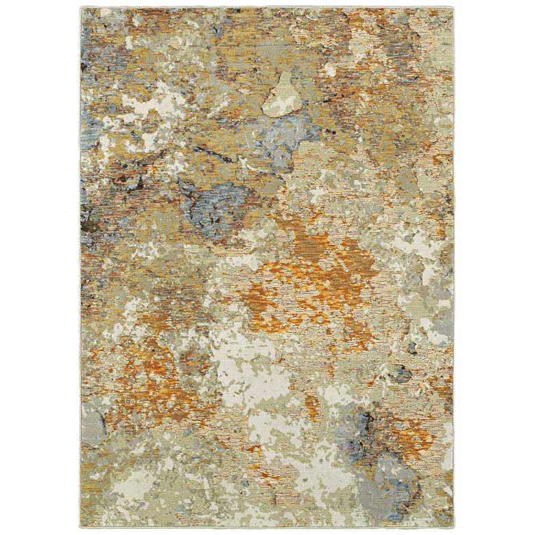 """Evolution 8031B 5'3""""x7'3"""" Gold and Beige Area Rug"""