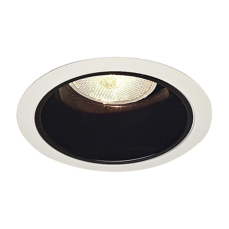 """Juno 5"""" Line Voltage Black Alzak Reflector Cone Trim"""