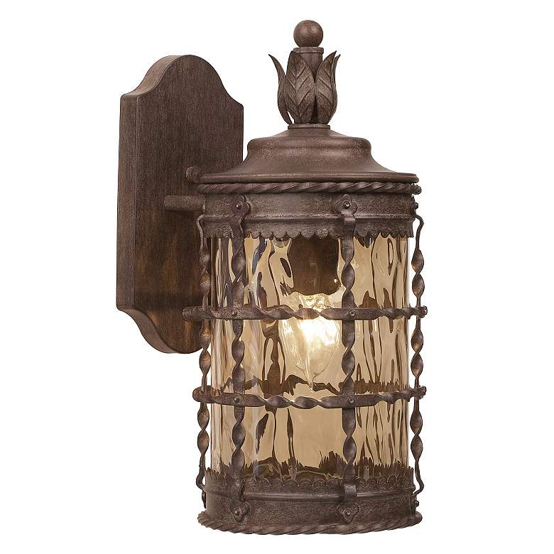 """Mallorca Collection 16"""" High Vintage Rust Outdoor Wall Light"""