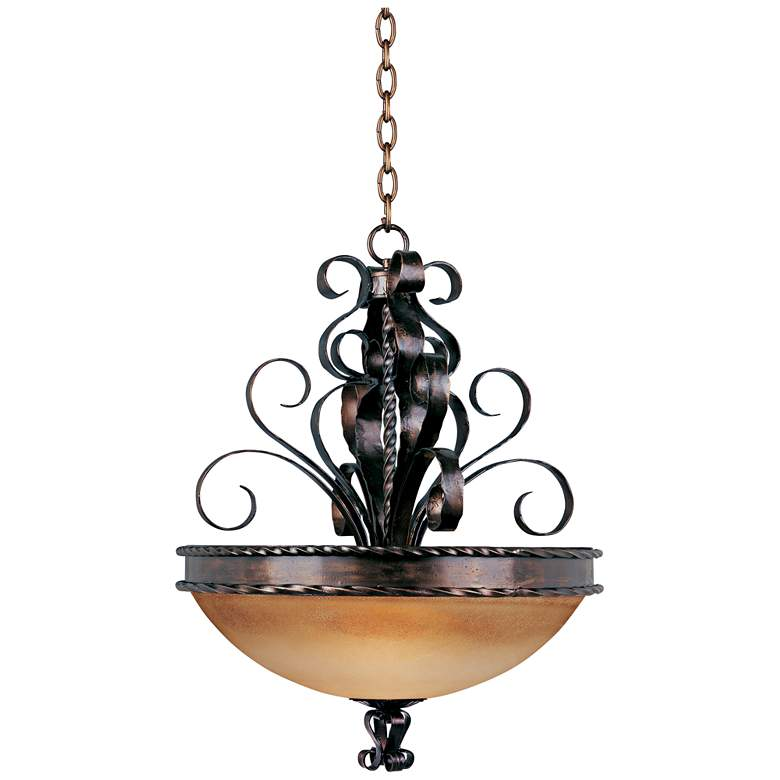 Aspen Collection 24 Wide Pendant Bowl Chandelier