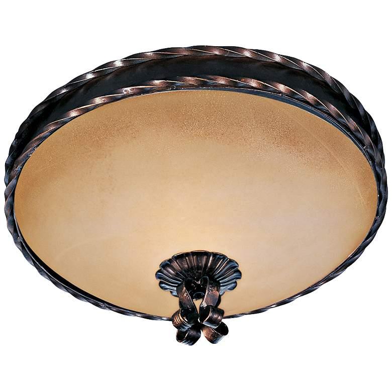 "Maxim Aspen 16"" Wide Oil Rubbed Bronze Ceiling Light"