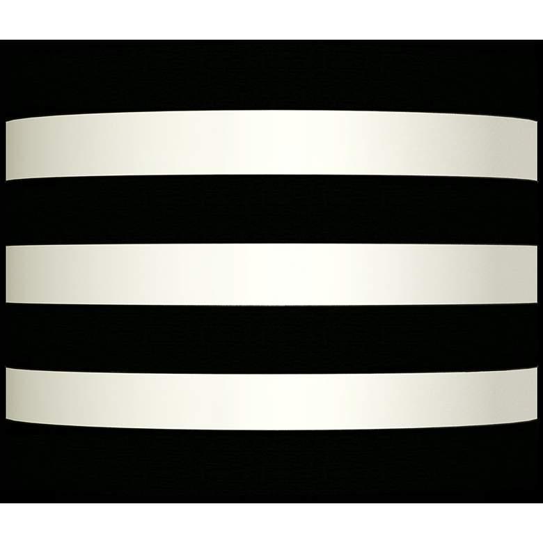 Flocked Black Velvet Stripe Lamp Shade 10x10x8 (Spider)