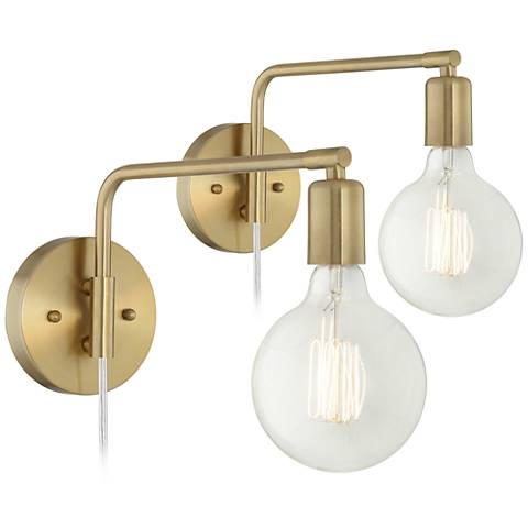Amara antique brass wall lamp set of 2 34a87 lamps plus amara antique brass wall lamp set of 2 aloadofball Images