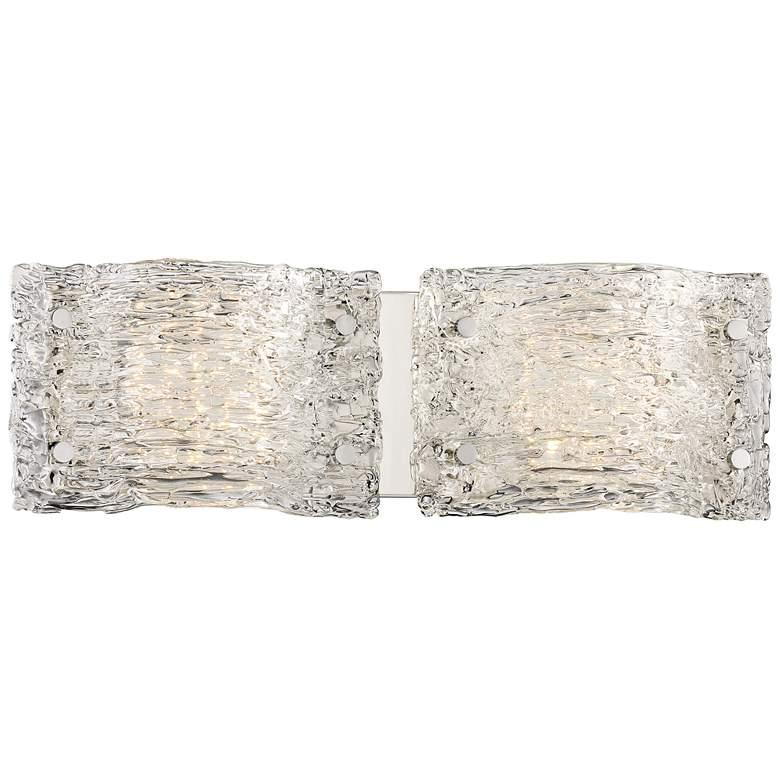 "George Kovacs Forest Ice 6"" High Chrome 2-LED Wall Sconce"