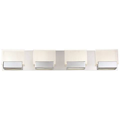 "Eurofase Sonic 29 1/2"" Wide Chrome 4-LED Bath Light"
