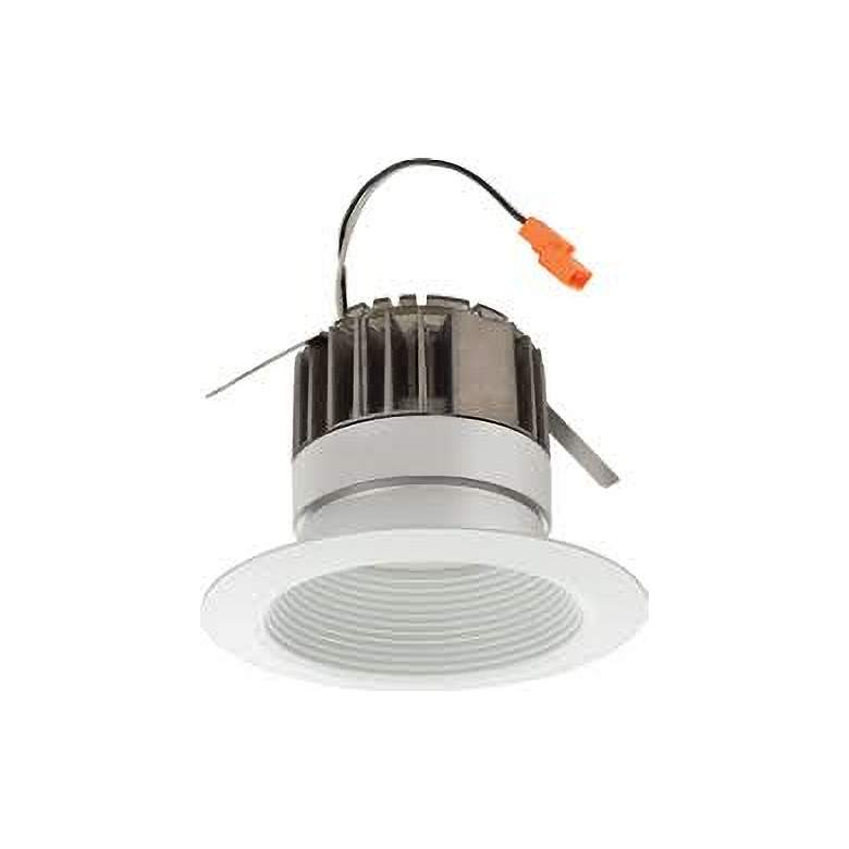 """Lithonia 4"""" Matte White Baffle LED Recessed Downlight"""