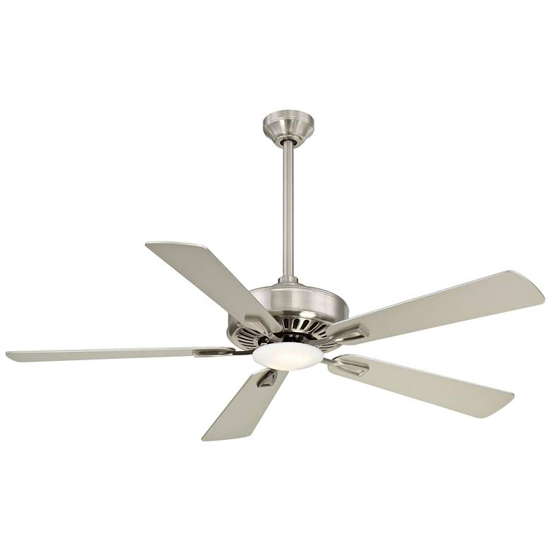 """52"""" Minka Aire Contractor Nickel - Silver LED Ceiling Fan"""
