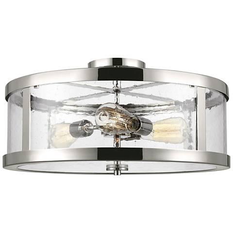 "Feiss Harrow 19 3/4""W Polished Nickel 3-Light Ceiling Light"