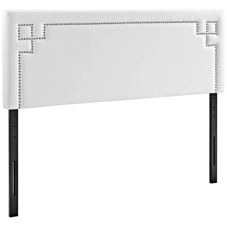 Josie White Vinyl Upholstered Headboard