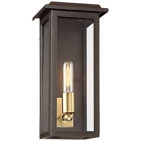 """Emelita 15 1/2"""" High Bronze Box Outdoor Wall Light"""