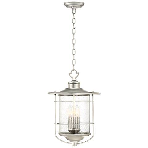 "Casa Mirada 19"" High Brushed Nickel Outdoor Hanging Light"