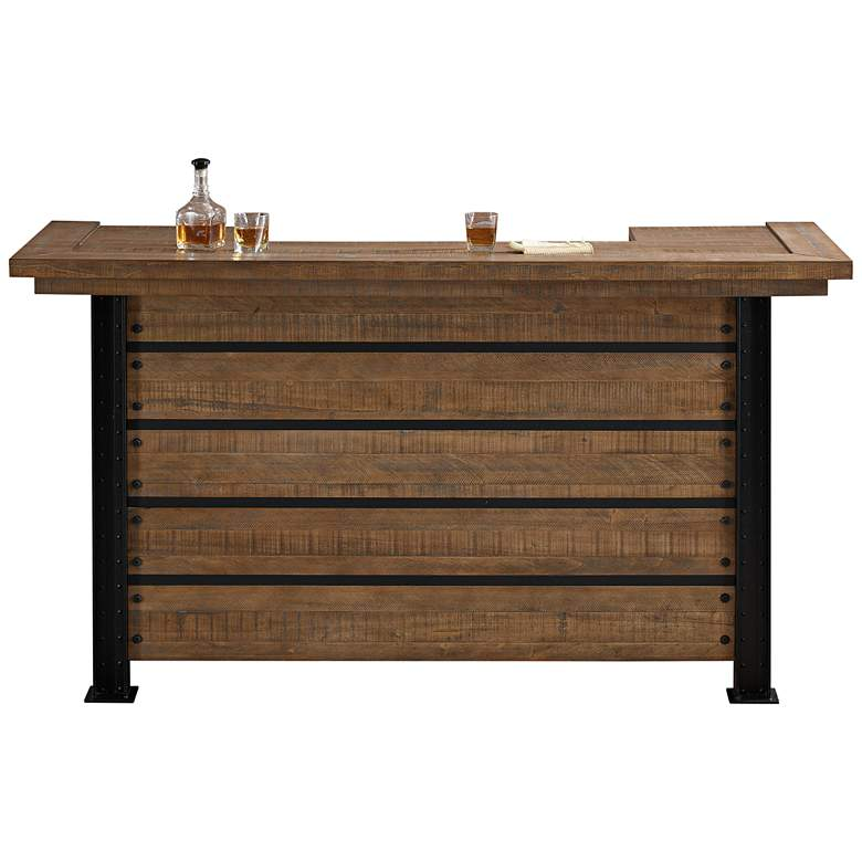 "Gateway 78"" Wide Hand-Crafted Reclaimed Wood Bar"