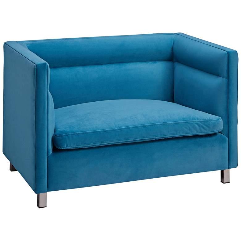 Beagle Light Blue Velvet Pet Sofa Bed