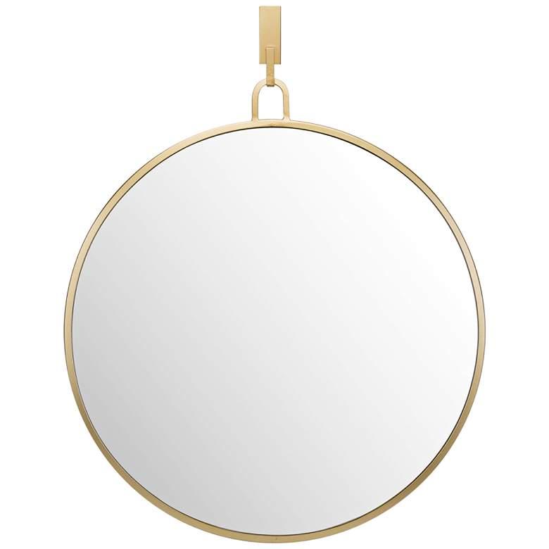 "Varaluz Casa Eli Gold 30"" x 32"" Round Stopwatch Wall Mirror"