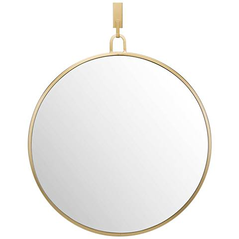 "Varaluz Casa Eli Gold 24"" x 30"" Round Stopwatch Wall Mirror"