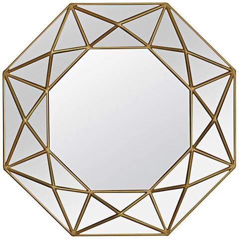 "Varaluz Casa Geo Gold 31 1/2"" Octagonal Wall Mirror"