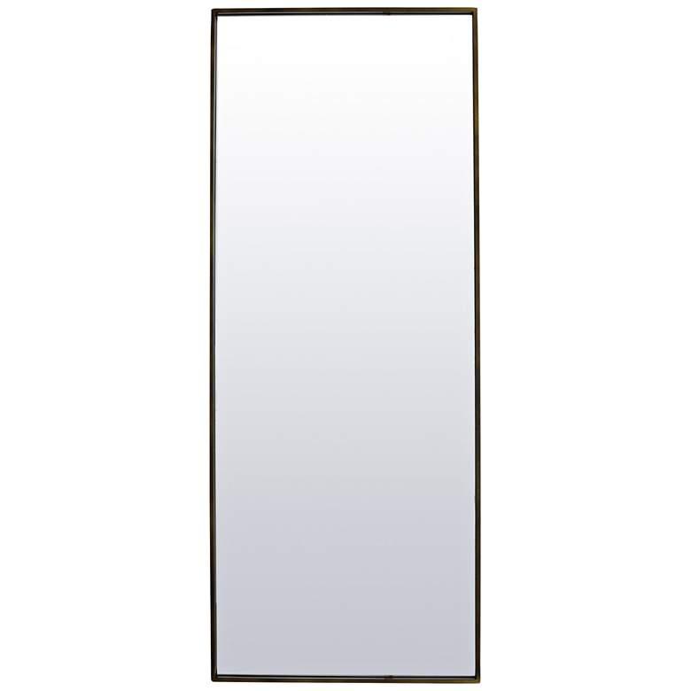 """Varaluz Casa Dillon Deep Brass 30"""" x 70"""" Wall Mirror"""