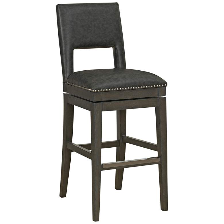 "Tristan 30"" Cadet Bonded Leather Swivel Barstool"