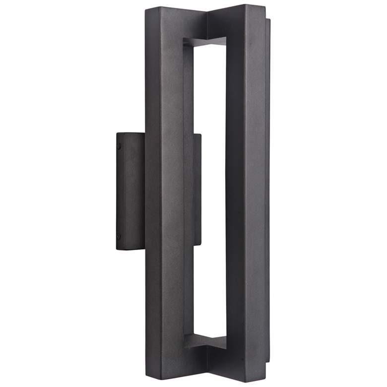 "Craftmade Kai 18"" High Matte Black LED Outdoor"