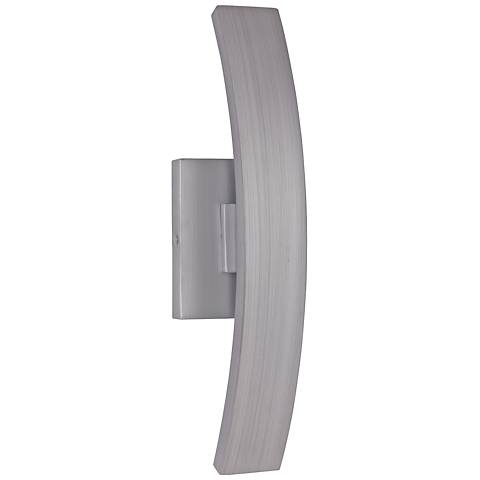 "Arcus 16""H Brushed Aluminum LED Pocket Outdoor Wall Light"