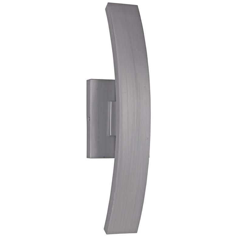 "Arcus 20""H Brushed Aluminum LED Pocket Outdoor Wall"