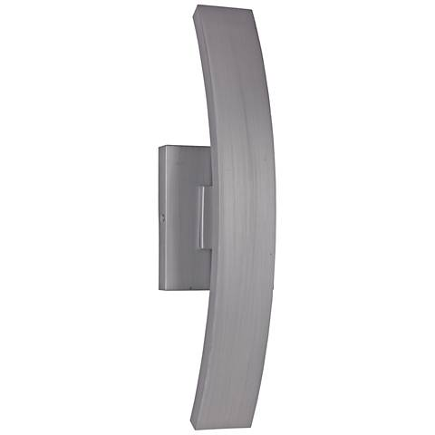 "Arcus 20""H Brushed Aluminum LED Pocket Outdoor Wall Light"