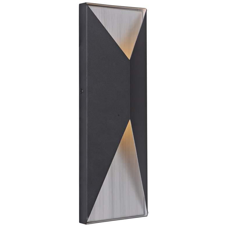 "Peak 14""H Black and Aluminum LED Pocket Outdoor Wall Light"