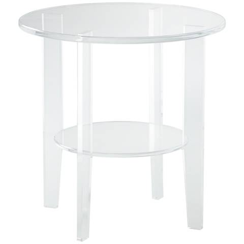 Erica Clear Acrylic Round Accent Table