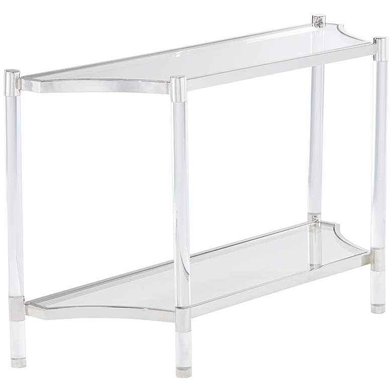 """Erica 48"""" Wide Clear Acrylic Console Table"""