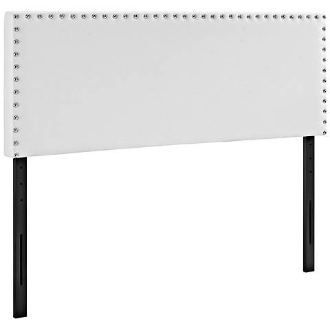 Phoebe White Vinyl Upholstered Headboard
