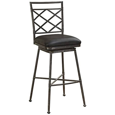 Sydney Tobacco Bonded Leather Swivel Barstool