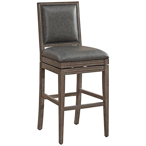 """Bryan 26"""" Charcoal Bonded Leather Swivel Counter Stool"""