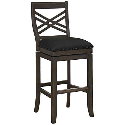 "Mason 26"" Graphite Bonded Leather Swivel Counter Stool"