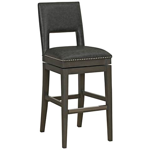 "Tristan 26"" Cadet Bonded Leather Swivel Counter Stool"