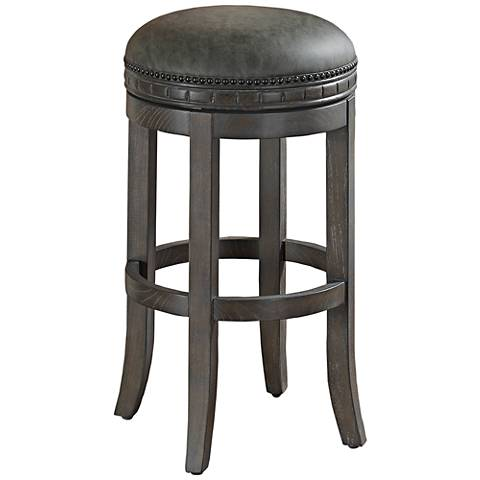 "Sonoma 26"" Charcoal Bonded Leather Swivel Counter Stool"
