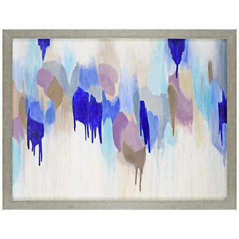 "Hot Air Ballons 53"" Wide Hand-Painted Framed Canvas Wall Art"