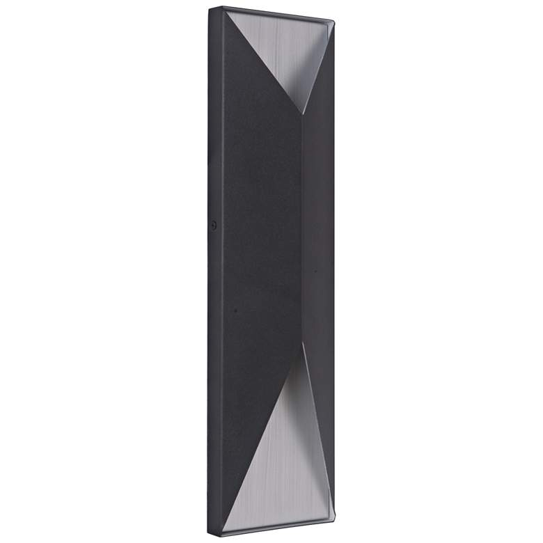 "Peak 18""H Black and Aluminum LED Pocket Outdoor"