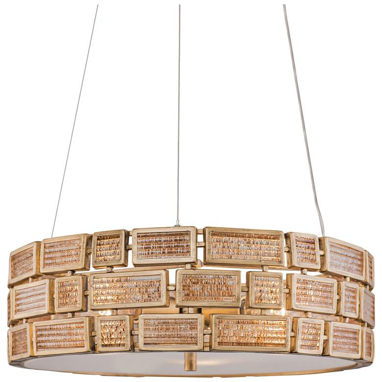 "Varaluz Harlowe 18"" Wide Havana Gold Pendant Light"
