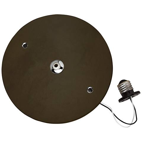 """Freejack 7 1/2"""" Antique Bronze LED Recessed Can Adapter"""
