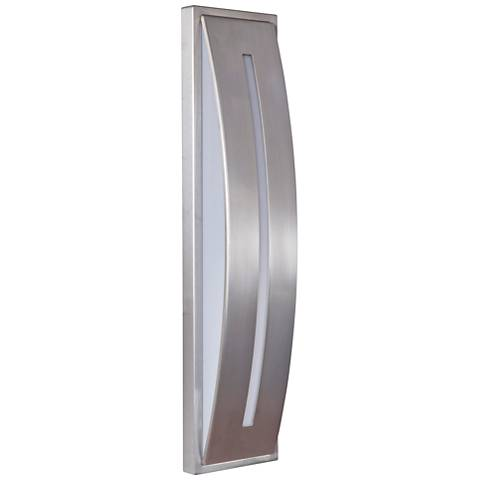 "Luna 17"" High Satin Aluminum LED Pocket Outdoor Wall Light"