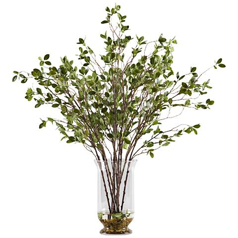 Frosted Lambs Ear 9 High Faux Plant In Pot Set Of 3 12h69