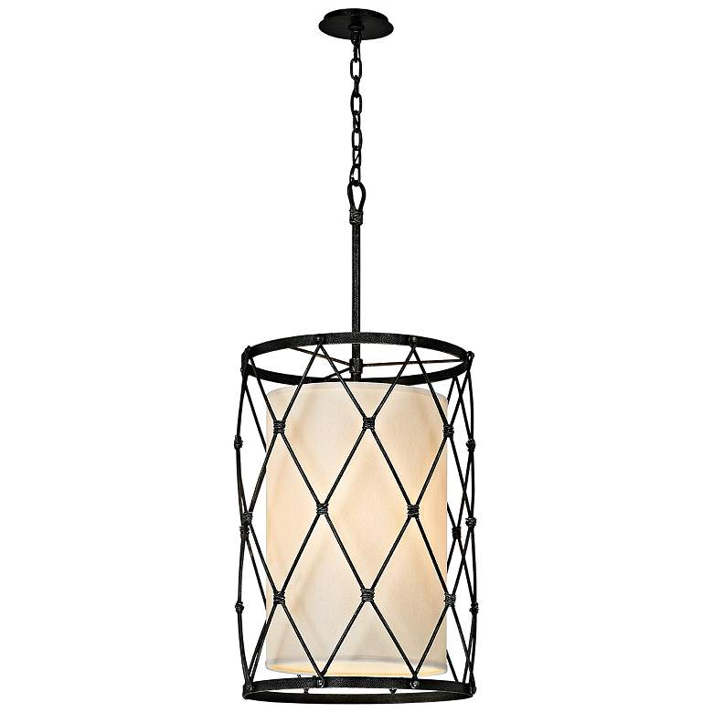 """Palisade 18"""" Wide Aged Pewter Pendant Light"""
