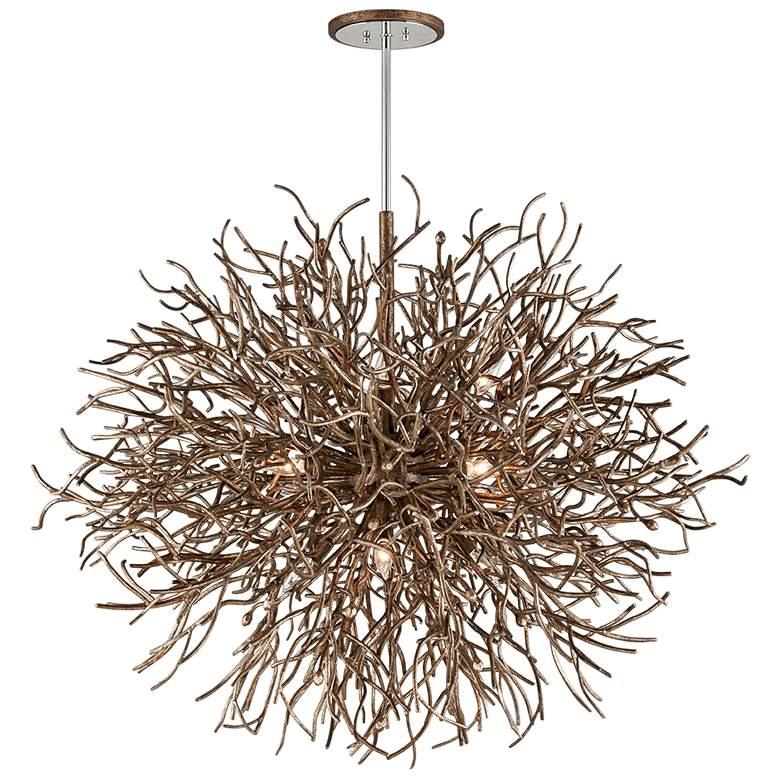 "Sierra 50"" Wide Distressed Bronze Pendant Light"