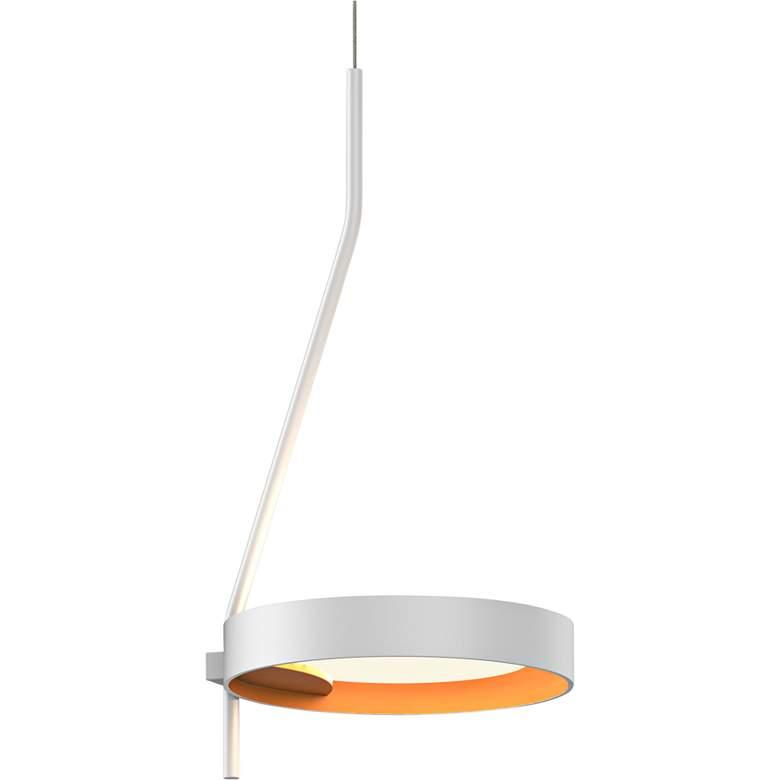 "Light Guide Ring 7 3/4"" Wide Satin White LED Mini Pendant"